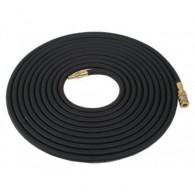 Vzduchová hadice 5m černá - s rychlospojkou